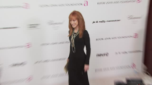 kathy griffin at the 18th annual elton john aids foundation oscar party at west hollywood ca. - oscar party stock videos & royalty-free footage