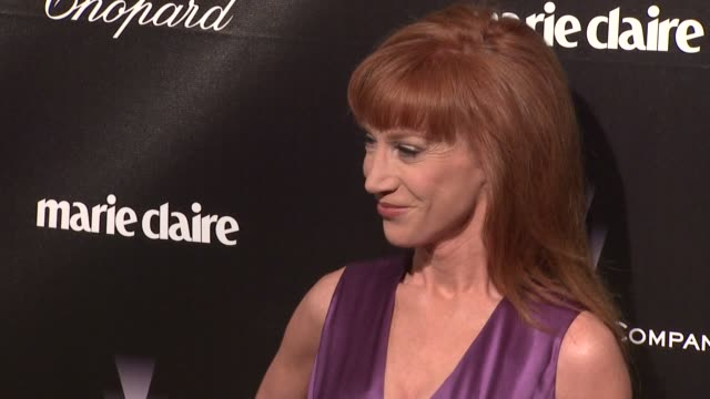 kathy griffin at the weinstein company golden globe after-party at the beverly hilton hotel on 1/15/12 in los angeles, ca. - the beverly hilton hotel点の映像素材/bロール