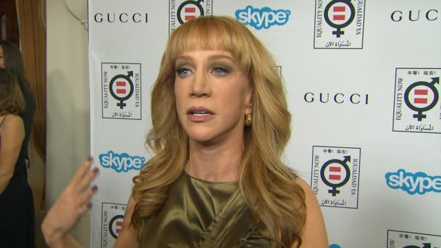 interview kathy griffin on why she wanted to host this event why gloria steinem is so deserving of the honor her advice on how to help make equality... - equality now stock videos and b-roll footage