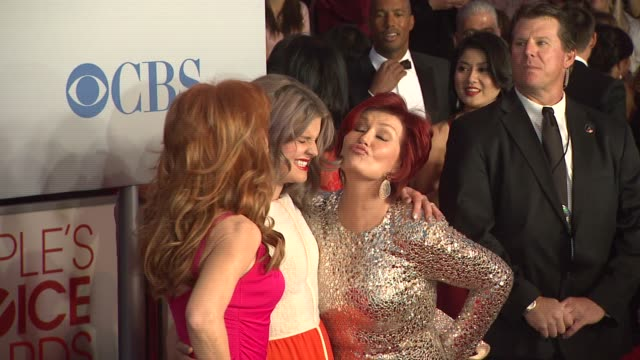 Kathy Griffin Sharon Osbourne Kelly Osbourne at 2012 People's Choice Awards Arrivals on 1/11/12 in Los Angeles CA
