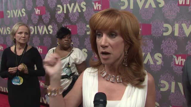 kathy griffin talking about being a diva her new best selling book and the night at the 2009 vh1 divas red carpet at new york ny - vh1 divas stock videos and b-roll footage