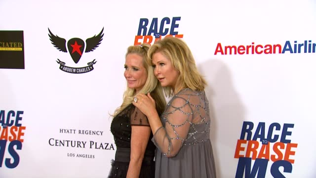 kathy hilton at 19th annual race to erase ms glam rock to erase ms on 5/18/12 in los angeles ca - race to erase ms stock videos and b-roll footage