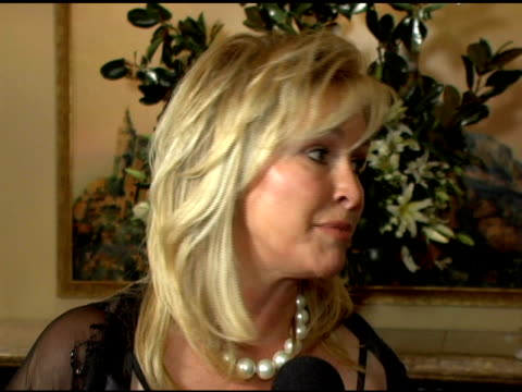 kathy hilton on the hilton family's involvement with the thalians and on getting nicky and paris involved with charities at a young age at the 50th... - thalians annual ball stock videos & royalty-free footage