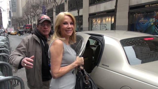 kathy lee gifford exits good morning america 03/15/12 in celebrity sightings in new york - kathie lee gifford stock videos & royalty-free footage