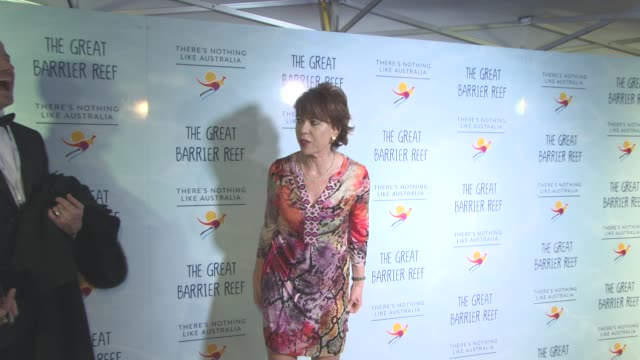 kathy lette at screening of 'great barrier reef' with david attenborough at australia house on december 2 2015 in london england - kathy lette stock videos & royalty-free footage