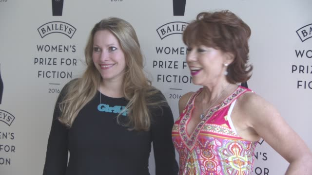 kathy lette at winner of the 2016 baileys womens prize for fiction photocall on june 8 2016 in london england - kathy lette stock videos & royalty-free footage