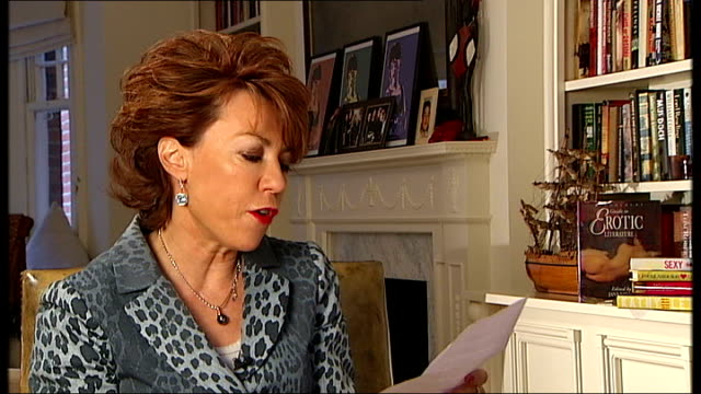kathy lette reading extract from 'maya' then comments on the extract sot - kathy lette stock videos & royalty-free footage