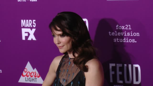 """katie aselton at premiere of fx network's """"feud: bette and joan"""" in los angeles, ca 3/1/17 - fx network stock videos & royalty-free footage"""
