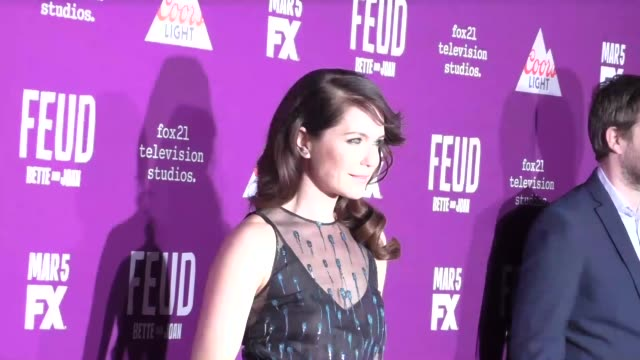 """katie aselton at the premiere of fx network's """"feud: bette and joan"""" at tcl chinese theatre on march 01, 2017 in hollywood, california. - fx network stock videos & royalty-free footage"""