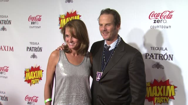katie bayne peter berg at patron presents the maxim party featuring cocacola zero countdown with paul mitchell on 2/4/12 in indianapolis in - paul mitchell stock videos and b-roll footage