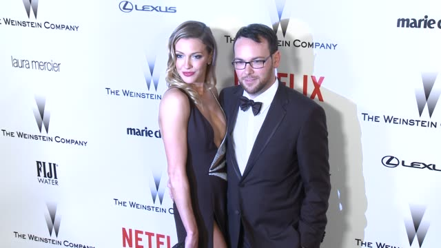 Katie Cassidy and Dana Brunetti at the 2015 Weinstein Company And Netflix Golden Globe After Party at Robinsons May Lot on January 11 2015 in Beverly...