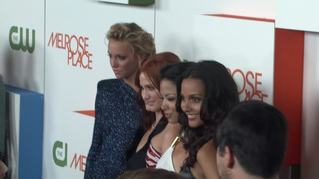katie cassidy, laura leighton, ashlee simpson-wentz, stephanie jacobsen, jessica lucas at the 'melrose place' premiere party at west hollywood ca. - 肥皂劇 個影片檔及 b 捲影像