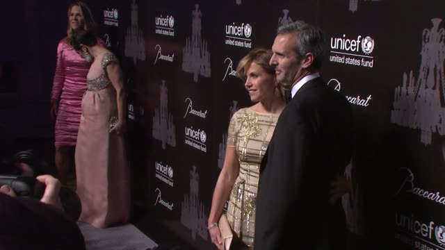 katie couric and john molner at the ninth annual unicef snowflake ball at cipriani, wall street on in new york city. - cipriani manhattan stock videos & royalty-free footage