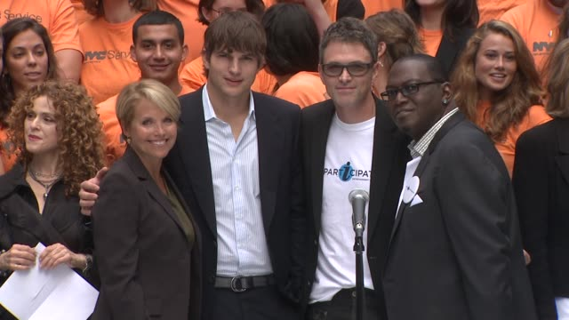 Katie Couric Ashton Kutcher Tim Daly and Randy Jackson at the Entertainment Industry Foundation Announces Two Major Volunteer Initiatives at New York...