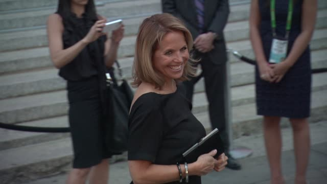 katie couric at vanity fair party - 2012 tribeca film festival on 4/17/2012 in new york, ny, united states. - tribeca festival stock videos & royalty-free footage