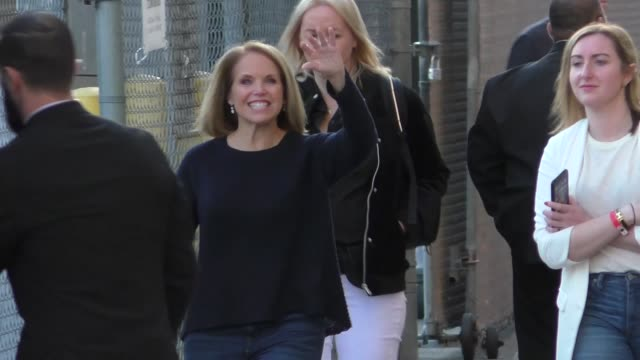 Katie Couric makes an appearance on Jimmy Kimmel Live at El Capitan Theater in Hollywood in Celebrity Sightings in Los Angeles