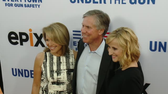 katie couric mark greenberg and stephanie soechtig at the under the gun los angeles premiere at samuel goldwyn theater on may 03 2016 in beverly... - samuel goldwyn theater stock videos & royalty-free footage