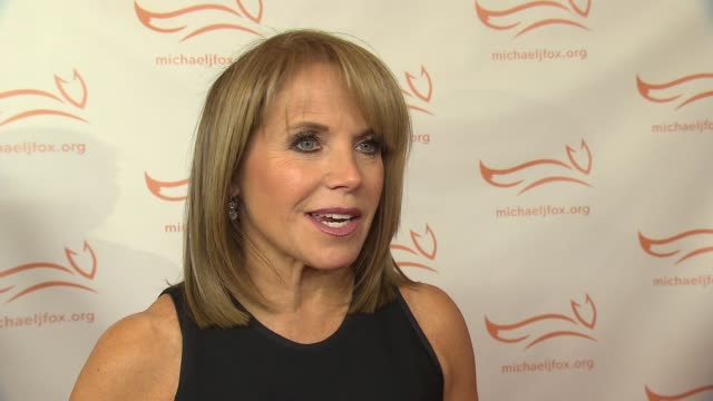 interview katie couric on supporting the cause at 2015 a funny thing happened on the way to cure parkinson's at waldorf astoria hotel on november 14... - waldorf astoria new york stock videos & royalty-free footage