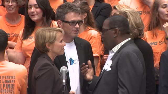 Katie Couric Tim Daly and Randy Jackson at the Entertainment Industry Foundation Announces Two Major Volunteer Initiatives at New York NY