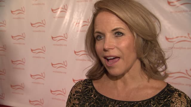 katie couric's father died of parkinson and she is asupporter of the foundation she shares and how michael j fox inspires her at a funny thing... - michael j. fox stock videos and b-roll footage