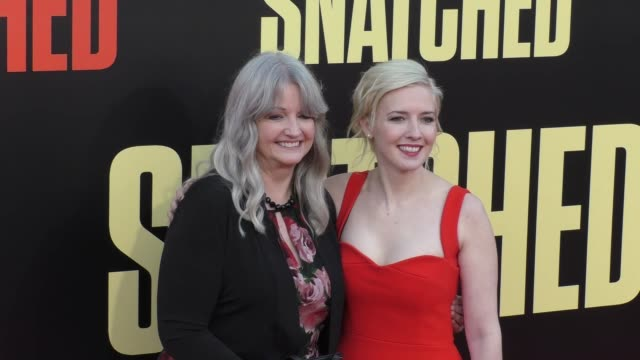 katie dippold at the premiere of 20th century fox's 'snatched' - arrivals on may 10, 2017 in westwood, california. - ウエストウッドヴィレッジ点の映像素材/bロール