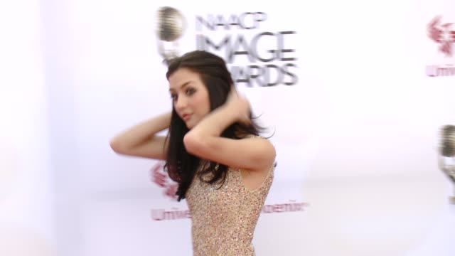 stockvideo's en b-roll-footage met katie findlay at the 46th annual naacp image awards arrivals at pasadena civic auditorium on february 06 2015 in pasadena california - pasadena civic auditorium