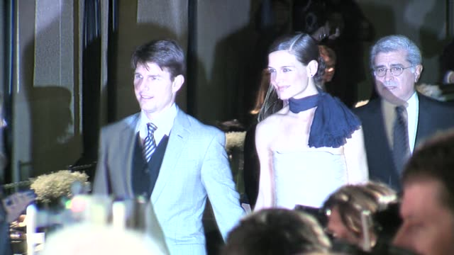 Katie Holmes and Tom Cruise at the LACMA Opening at the Broad Contemporary Art Museum in Los Angeles California on February 9 2008
