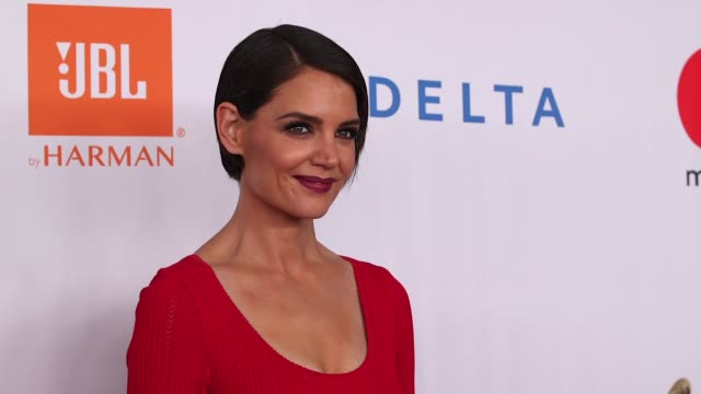 katie holmes at clive davis pre-grammy gala at sheraton times square on january 27, 2018 in new york city. - gala stock videos & royalty-free footage