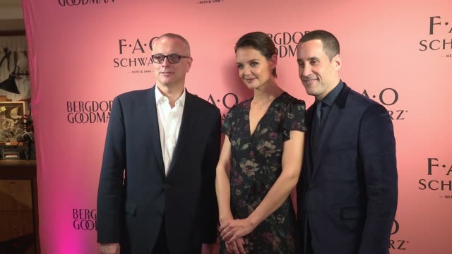 """katie holmes at katie holmes unveils fao schwarz holiday collection and the """"return to wonder"""" at bergdorf goodman at bergdorf goodman on october 24,... - bergdorf goodman stock videos & royalty-free footage"""