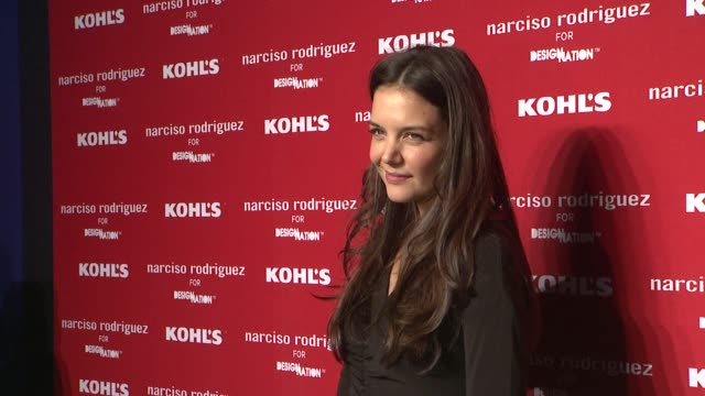 katie holmes at kohl's celebrates the launch of narciso rodriguez for designation with exclusive collection premiere at iac headquarters on october... - exklusiv stock-videos und b-roll-filmmaterial