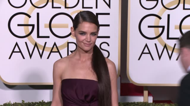 Katie Holmes at the 72nd Annual Golden Globe Awards Arrivals at The Beverly Hilton Hotel on January 11 2015 in Beverly Hills California