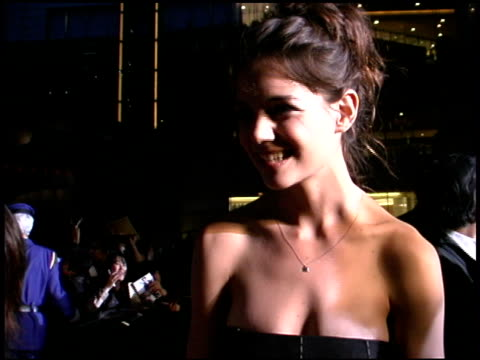 katie holmes at the 'batman begins' press conference and premiere at roppongi hills in tokyo on may 31 2005 - roppongi hills stock videos and b-roll footage