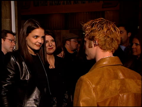 katie holmes at the 'go' premiere at the cinerama dome at arclight cinemas in hollywood california on april 7 1999 - katie holmes stock videos and b-roll footage