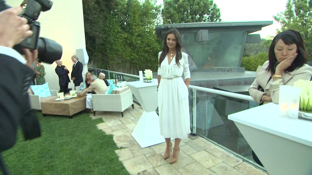 katie holmes at the tiffany co and frank gehry debut the gehry watercolor collection for tiffany co at los angeles ca - katie holmes stock videos and b-roll footage