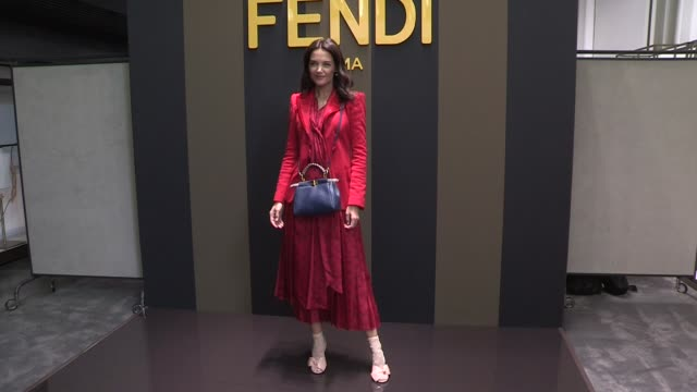 katie holmes georgina rodriguez and more at the photocall for the fendi spring summer 2020 fashion show in milan milan italy on thursday september 19... - arts culture and entertainment stock videos & royalty-free footage