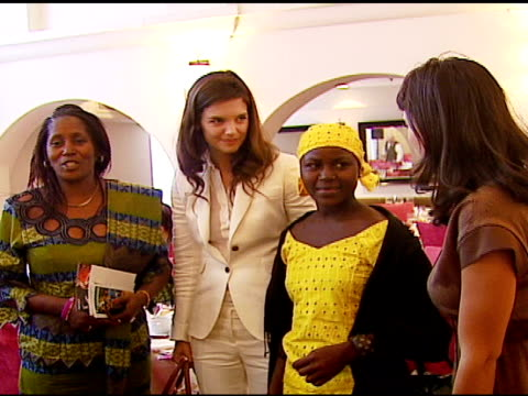 katie holmes margaret jayah rosario dawson and guest on far left at the vday and glamour honor women in conflict zones working for peace on february... - katie holmes stock videos and b-roll footage