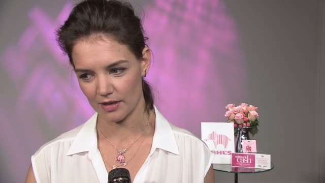 INTERVIEW Katie Holmes on how Kohls will donate a million dollars to breast cancer research and why she wanted to help spread the awareness on the...