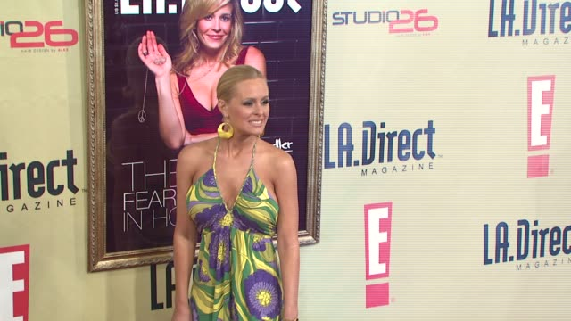 katie lohmann at the la direct magazine's holiday party at les deux in los angeles california on december 14 2007 - les deux club stock videos & royalty-free footage