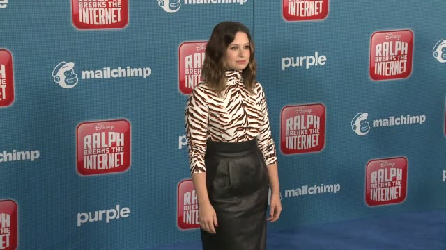 """katie lowes at the """"ralph breaks the internet"""" world premiere at the el capitan theatre on november 05, 2018 in hollywood, california. - el capitan theatre stock videos & royalty-free footage"""