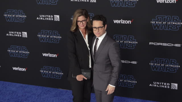 """katie mcgrath and j.j. abrams at the premiere of disney's """"star wars: the rise of skywalker"""" on december 16, 2019 in hollywood, california. - star wars stock videos & royalty-free footage"""