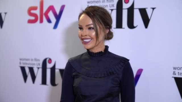 katie piper at the women in film and television awards on december 7 2018 in london england - television awards stock videos & royalty-free footage