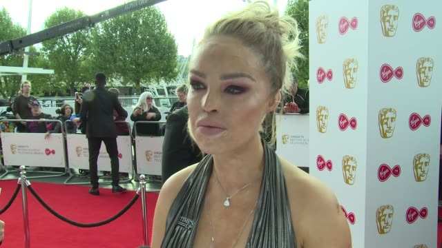 katie piper on becoming a mother speaking out at sexism and upcoming tv shows at the royal festival hall on may 13 2018 in london england - british academy television awards stock videos & royalty-free footage