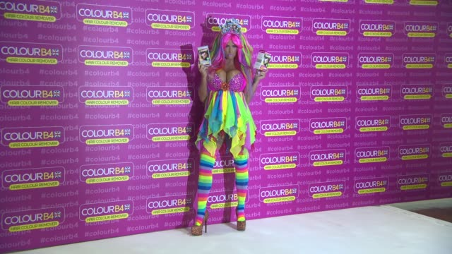 BROLL Katie Price Global Ambassador for ColourB4 at The Worx Studio's on June 04 2014 in London England
