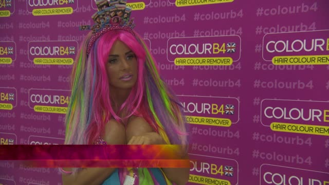 katie price global ambassador for colourb4 at the worx studio's on june 04, 2014 in london, england. - ambassador stock videos & royalty-free footage