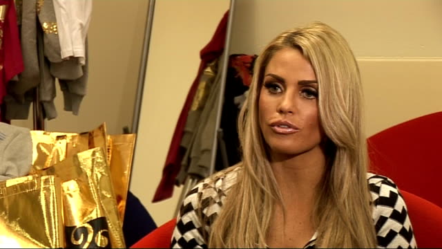 katie price launches new fashion range 'day 22'; katie price interview sot - on working with designer lamis khamis / her target customer - everyone,... - businesswoman stock videos & royalty-free footage