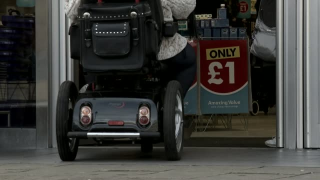 Katie Price takes petition against online abuse to Parliament T16021740 / Luton Mobility Scooter along into Poundland shop
