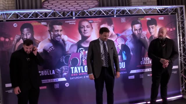 """vídeos de stock e filmes b-roll de katie taylor is relishing the """"huge opportunity"""" that awaits in november when she will bid to follow up unifying the lightweight division by becoming... - lightweight"""