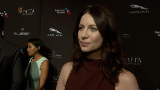 interview katrina balf on being at the event on what makes the bafta tea party one of the most prestigious events of the weekend and on getting ready... - golden globe awards stock videos and b-roll footage