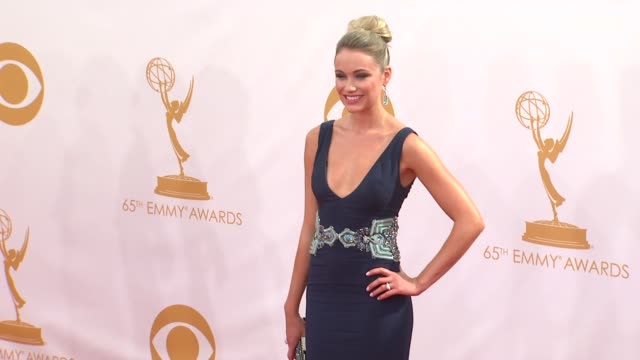 katrina bowden at the 65th annual primetime emmy awards arrivals in los angeles ca on 9/22/13 - annual primetime emmy awards stock-videos und b-roll-filmmaterial