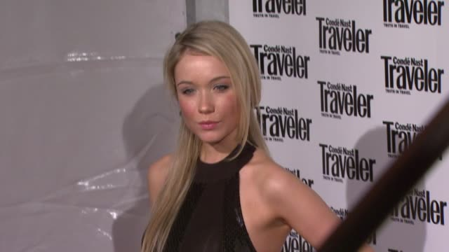 katrina bowden at the conde nast traveler celebrates 20 years of truth in travel at the cooperhewitt national design museum in new york new york on... - katrina bowden stock videos and b-roll footage
